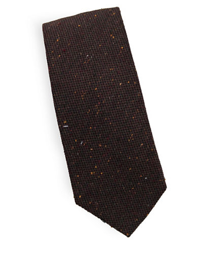 Linea In Classic Silk and Wool Tie-BROWN-One Size