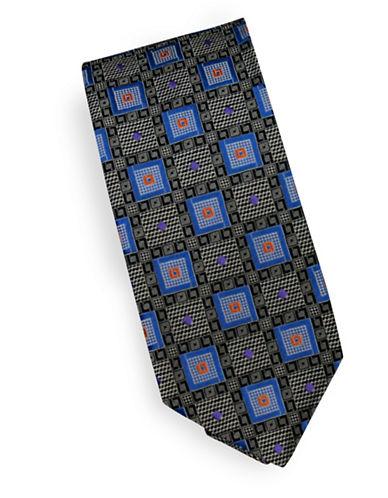 Linea In Wave Silk Tie-SKY-One Size