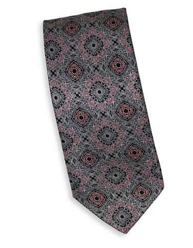 Linea In Silk Mandala Print Tie-RED-One Size