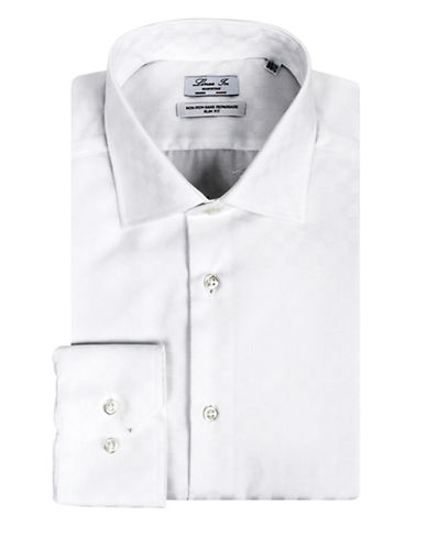 Linea In Two-Ply Slim-Fit Cotton Dress Shirt-WHITE-16.5-36