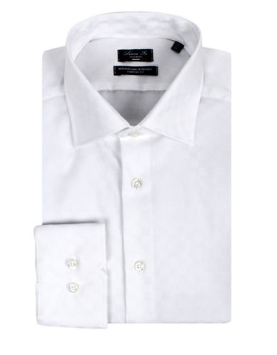 Linea In Two-Ply Comfort-Fit Cotton Dress Shirt-WHITE-17.5-37
