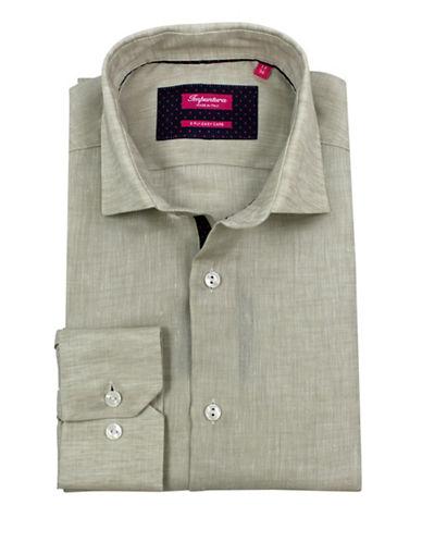 Impuntura Cotton Long Sleeve Easy-Care Dress Shirt-TAUPE-15
