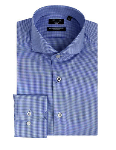 Linea In Comfort-Fit Non-Iron Dress Shirt-BLUE-14.5-32/33