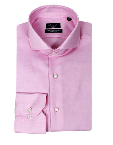 Linea In Comfort-Fit Micro Check Dress Shirt-PINK-16-36