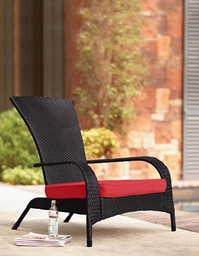 Jr Home Wicker Muskoka Chair with Cushion-BLACK-One Size