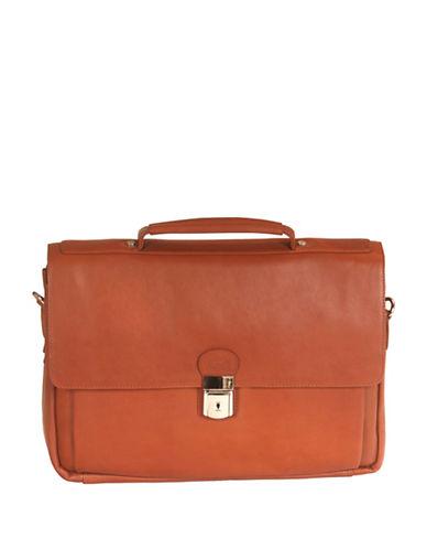 Mancini Mancini Triple Compartment Briefcase-BEIGE-One Size