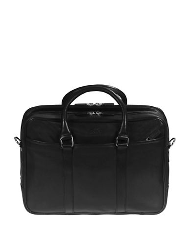 Mancini Colombian RFID-Secure Leather Briefcase-BLACK-One Size