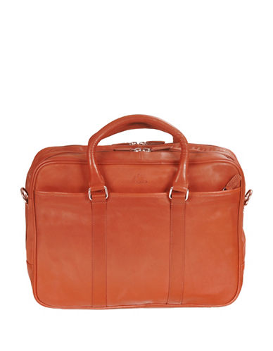 Mancini Colombian RFID-Secure Leather Briefcase-COGNAC-One Size