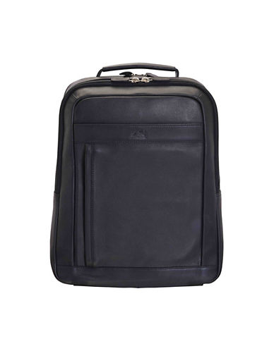 Mancini Colombian RFID-Secure Leather Backpack-BLACK-One Size