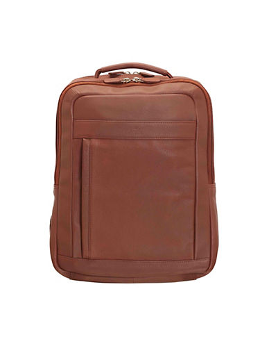 Mancini Colombian RFID-Secure Leather Backpack-COGNAC-One Size