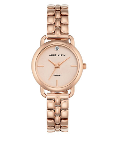 Anne Klein Diamond Dial Collection Rose Goldtone Bracelet Watch-ROSE GOLD-One Size