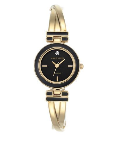 Anne Klein Diamond Dial Collection Goldtone Bracelet Watch-GOLD-One Size