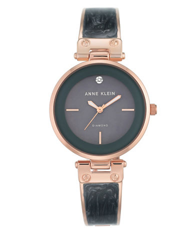 Anne Klein AK-2512GYRG Analog Bracelet Watch-ROSE GOLD-One Size