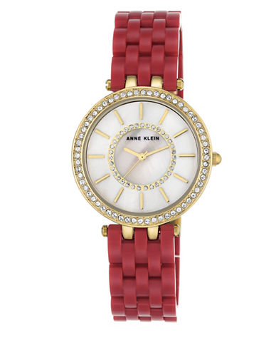 Anne Klein AK-2620RDGB Red Analog Bracelet Watch-RED-One Size