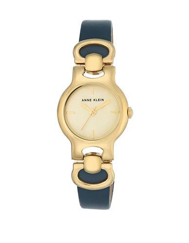 Anne Klein AK-2630CHDB Analog Bracelet Watch-GOLD-One Size