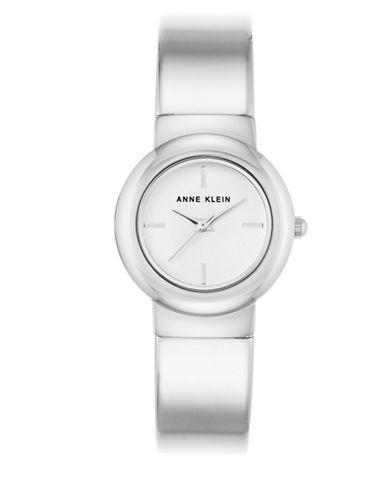 Anne Klein AK-2656CHGB Silvertone Analog Bracelet Watch-SILVER-One Size