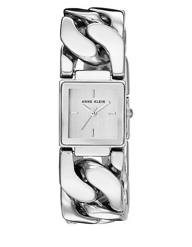 Anne Klein AK-2664CHGB Silvertone Analog Bracelet Watch-SILVER-One Size