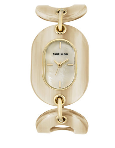 Anne Klein AK-2674BKGB Honey Analog Bracelet Watch-GOLD-One Size