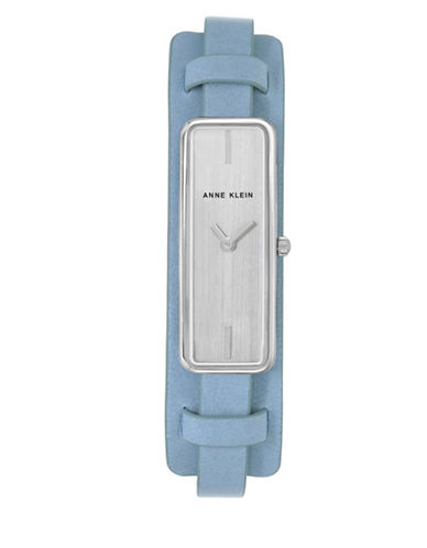 Anne Klein AK-2745SVLB Blue Analog Strap Watch-SILVER-One Size