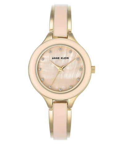 Anne Klein AK-2934LPGB Mother-of-Pearl Bracelet Watch-GOLD-One Size