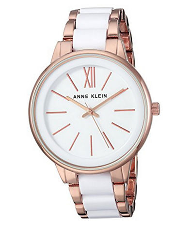 Anne Klein Analog Rose Goldtone and Lucite Bracelet Watch-ROSE GOLD-One Size