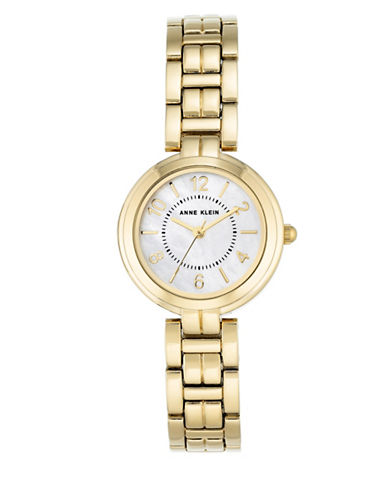 Anne Klein Goldtone Analog Watch-GOLD-One Size