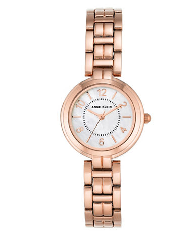 Anne Klein Rose Goldtone Analog Watch-ROSE GOLD-One Size