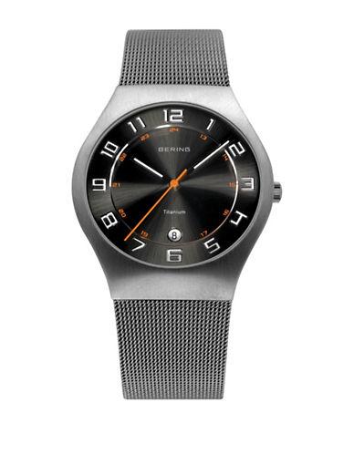 Bering Classic Analog Silvertone Mesh Bracelet Watch-SILVER-One Size