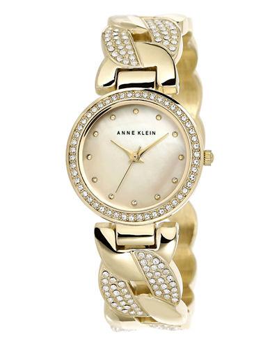 Anne Klein Womens Standard Crystals AK-1832CMGB-GOLD-One Size