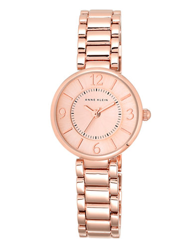 Anne Klein Ladies Rosegold Tone Watch With Link Strap Ak-1870RGRG-ROSE GOLD-One Size