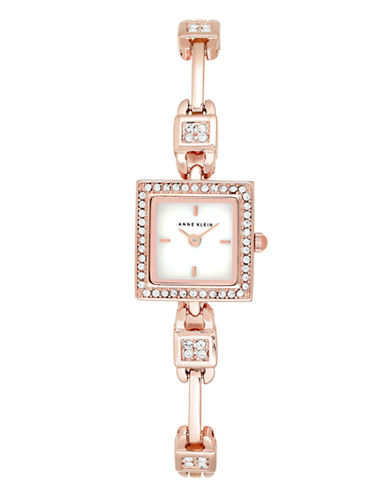 Anne Klein Womens Petite Dress Crystals AK-1864MPRG-ROSE GOLD-One Size