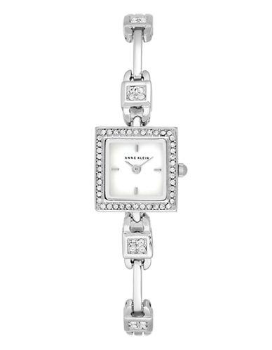 Anne Klein Womens Petite Dress Crystals AK-1865MPSV-SILVER-One Size