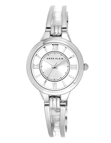 Anne Klein Ladies Double Bar Semi-Bangle Watch Ak-1441SVSV-SILVER-One Size