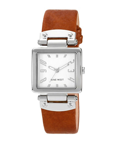 Nine West 1339SVHY Stainless Steel Watch-BROWN-One Size