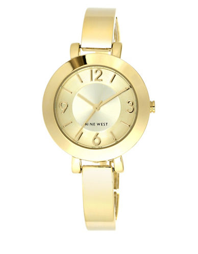 Nine West Analog Fashion Goldtone Watch-GOLD-One Size