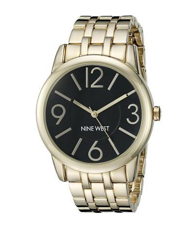 Nine West Analog Three Hand Quartz Goldtone Metal Bracelet Watch-GOLD-One Size