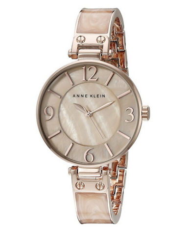 Anne Klein Mother of Pearl and Rose Goldtone Stainless Steel Watch-ROSE GOLD-One Size