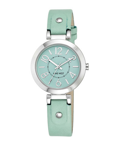 Nine West 1713MTMT Stainless Steel Watch-TEAL-One Size