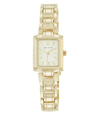 Anne Klein Analog AK-2542CHGB Goldtone Stainless Steel Watch-GOLD-One Size