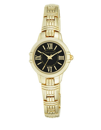 Anne Klein Analog AK-2280BKGB Goldtone Stainless Steel Watch-GOLD-One Size