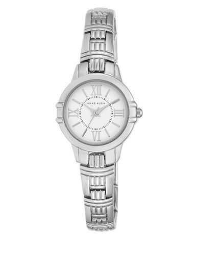 Anne Klein Analog AK-2281SVSV Silvertone Stainless Steel Watch-SILVER-One Size