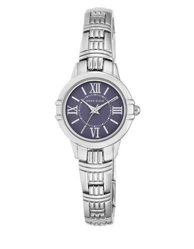 Anne Klein Analog AK-2281BLSV Stainless Steel Watch-SILVER-One Size