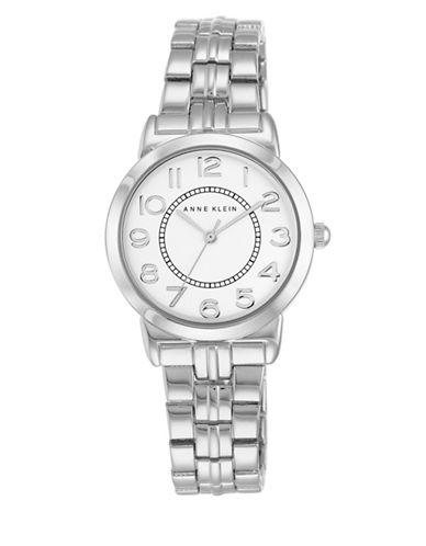 Anne Klein Analog AK-2279SVSV Silvertone Stainless Steel Watch-SILVER-One Size