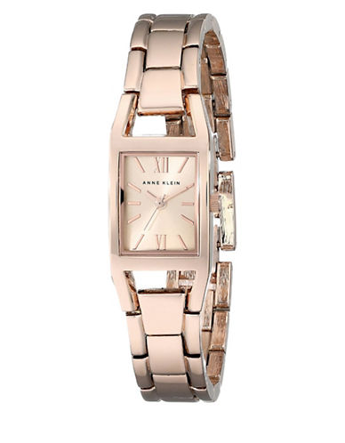 Anne Klein Analog Rose Goldtone Rectangular Bracelet Watch-ROSE GOLD-One Size