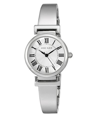 Anne Klein Analog Roman Dial Silvertone Bracelet Watch-SILVER-One Size