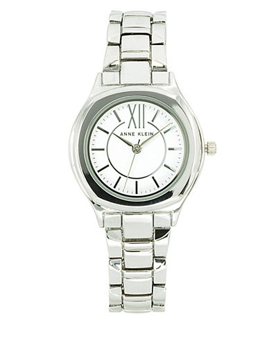 Anne Klein Analog Silvertone Bracelet Watch-SILVER-One Size
