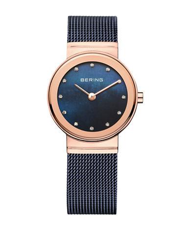 Bering Classic Analog Swarovski Crystal Blue Watch-BLUE-One Size