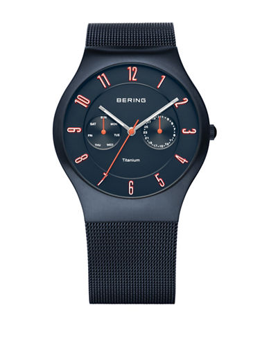 Bering Classic Multi-Function Mesh Watch-SILVER-One Size