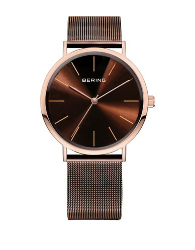 Bering Classic Analog Rose Goldtone Mesh Watch-ROSE GOLD-One Size