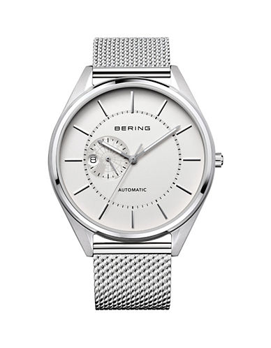 Bering Silvertone Automatic Classic Stainless Steel Bracelet Watch-SILVER-One Size